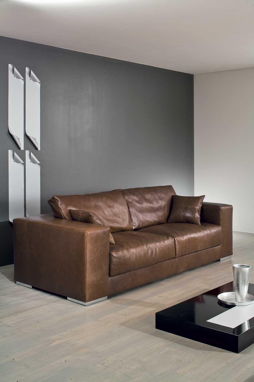 Gulliver divano design moderno in tessuto o ecopelle - Divano moderno design ...