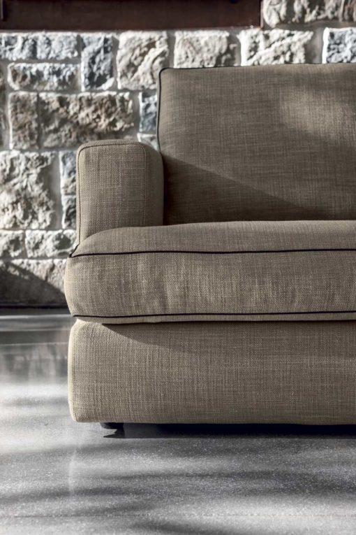Lux - Divano design moderno in tessuto o ecopelle
