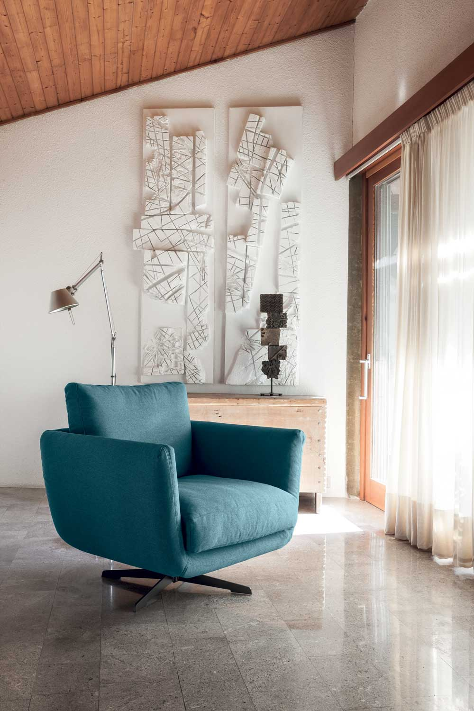 Opera Divano Design Moderno In Tessuto O Ecopelle