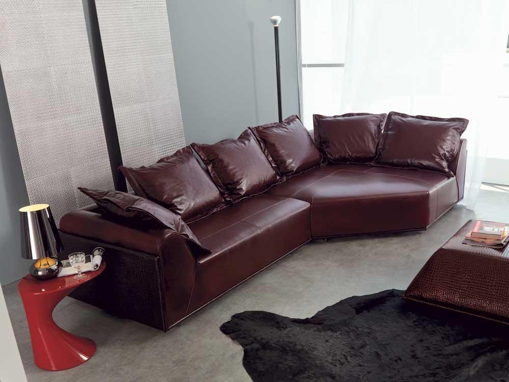 Riad divano design moderno in tessuto o ecopelle - Divano moderno design ...