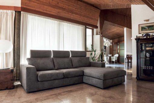 Sirio - Divano design moderno in tessuto o ecopelle