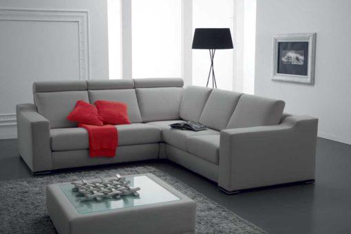 Soffio - Divano design moderno in tessuto o ecopelle