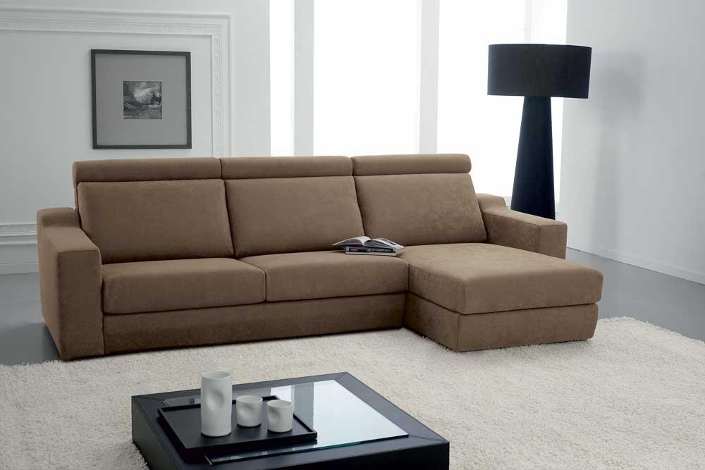 Soffio divano design moderno in tessuto o ecopelle - Divano moderno design ...