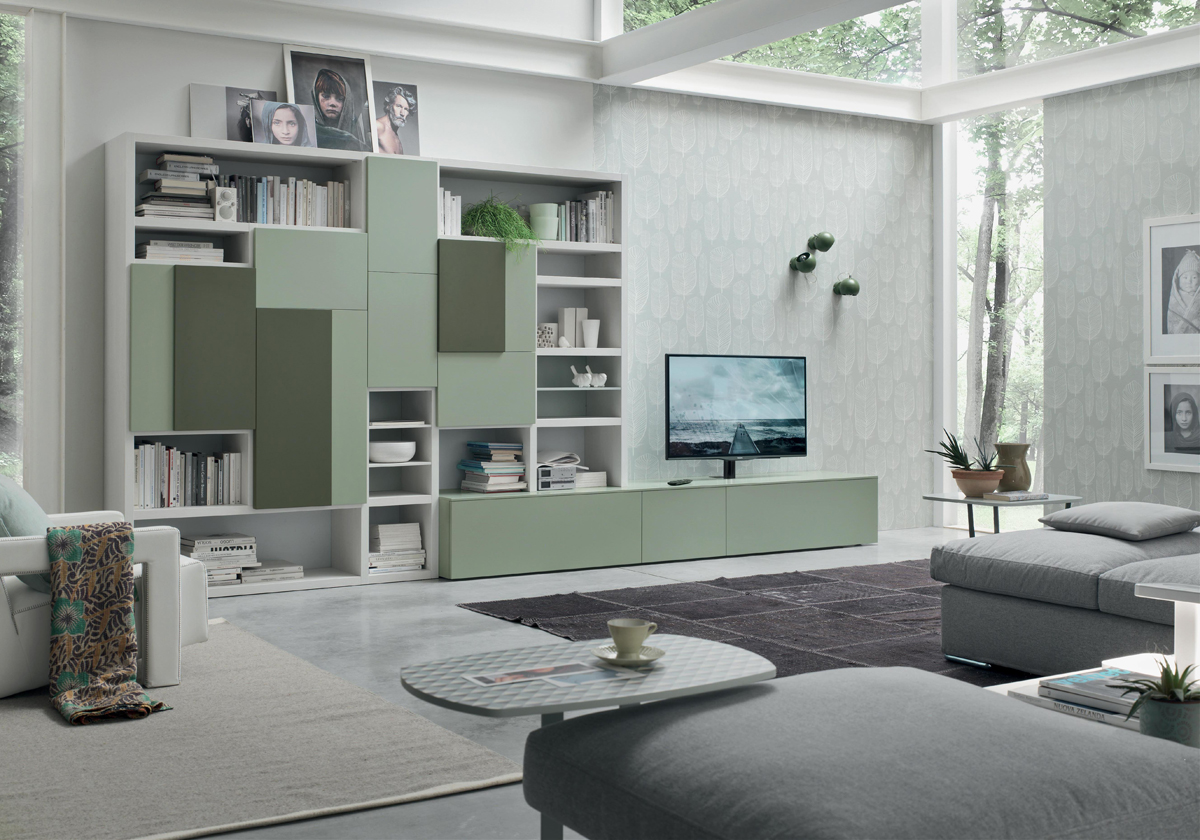 Seta sa1571 mobile soggiorno moderno componibile l 408 8 for Mobile soggiorno moderno