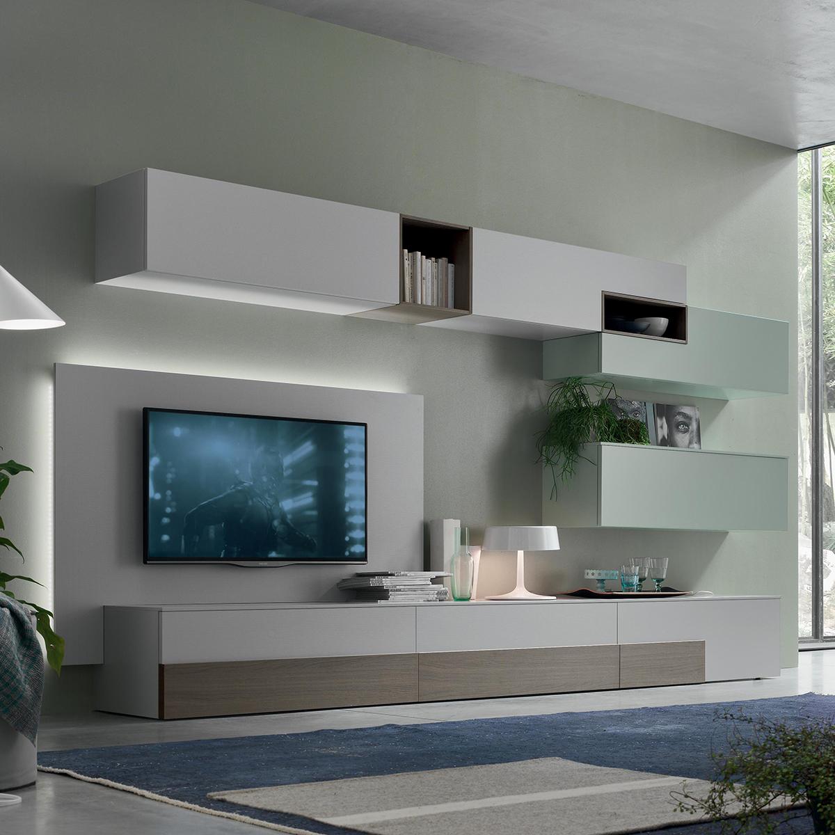 Seta sa1556 mobile soggiorno moderno componibile l 352 2 for Mobile da soggiorno moderno