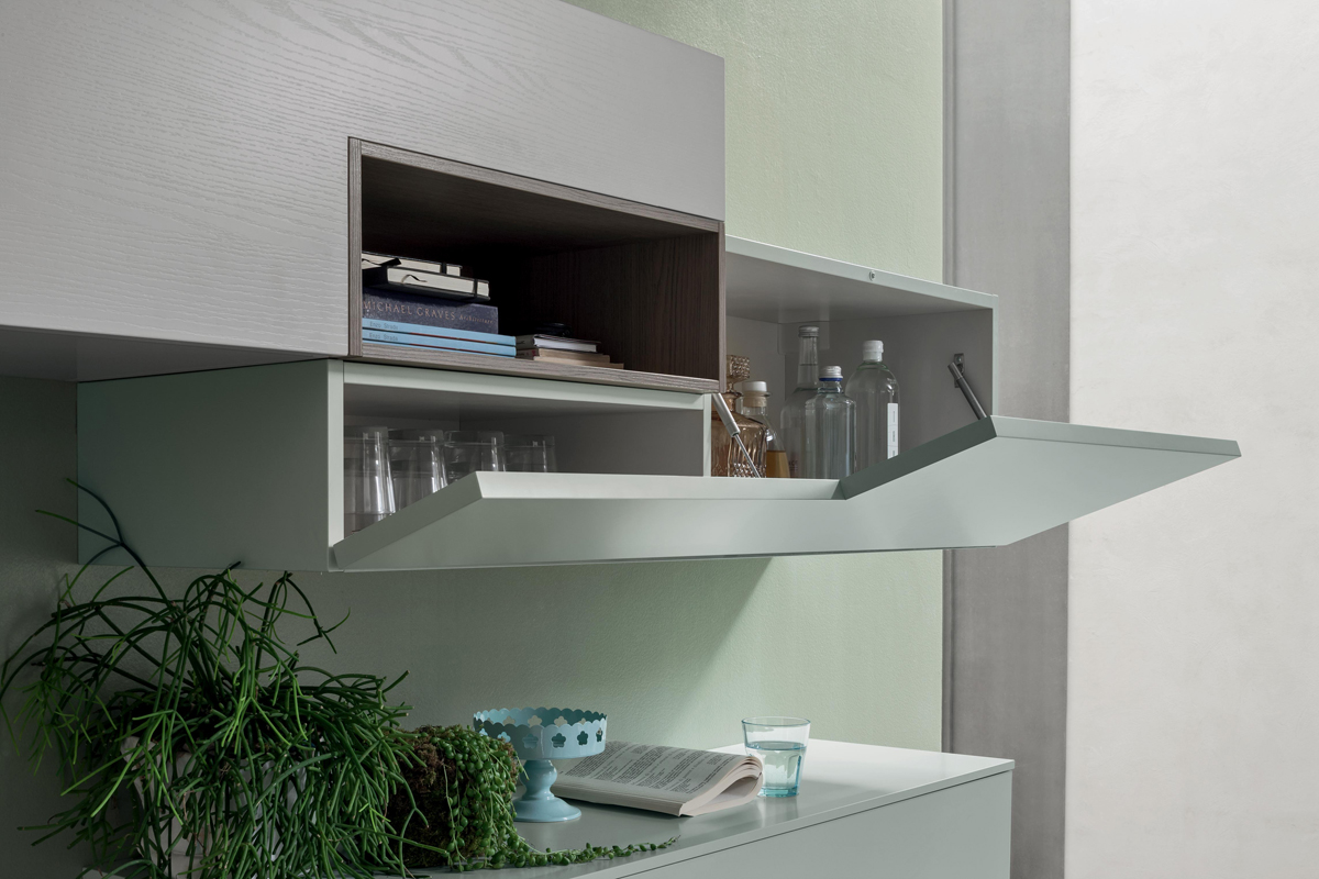 Seta SA1556 - Mobile soggiorno moderno componibile L 352,2 cm MARONESE ACF - INTERNO77 ...