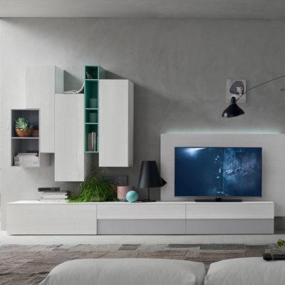 Seta SA1558 - Mobile soggiorno moderno componibile L 334,6 cm MARONESE ACF