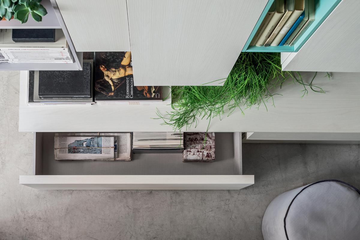 Seta SA1558 - Mobile soggiorno moderno componibile L 334,6 cm ...