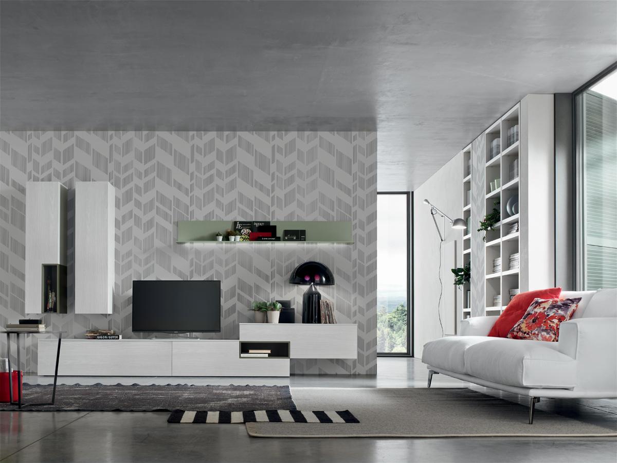 Seta sa1565 mobile soggiorno moderno componibile l 352 2 - Mobile soggiorno moderno ...