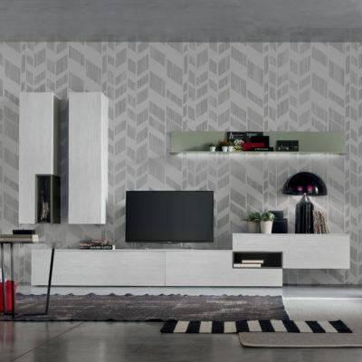 Seta SA1565 - Mobile soggiorno moderno componibile L 352,2 cm MARONESE ACF