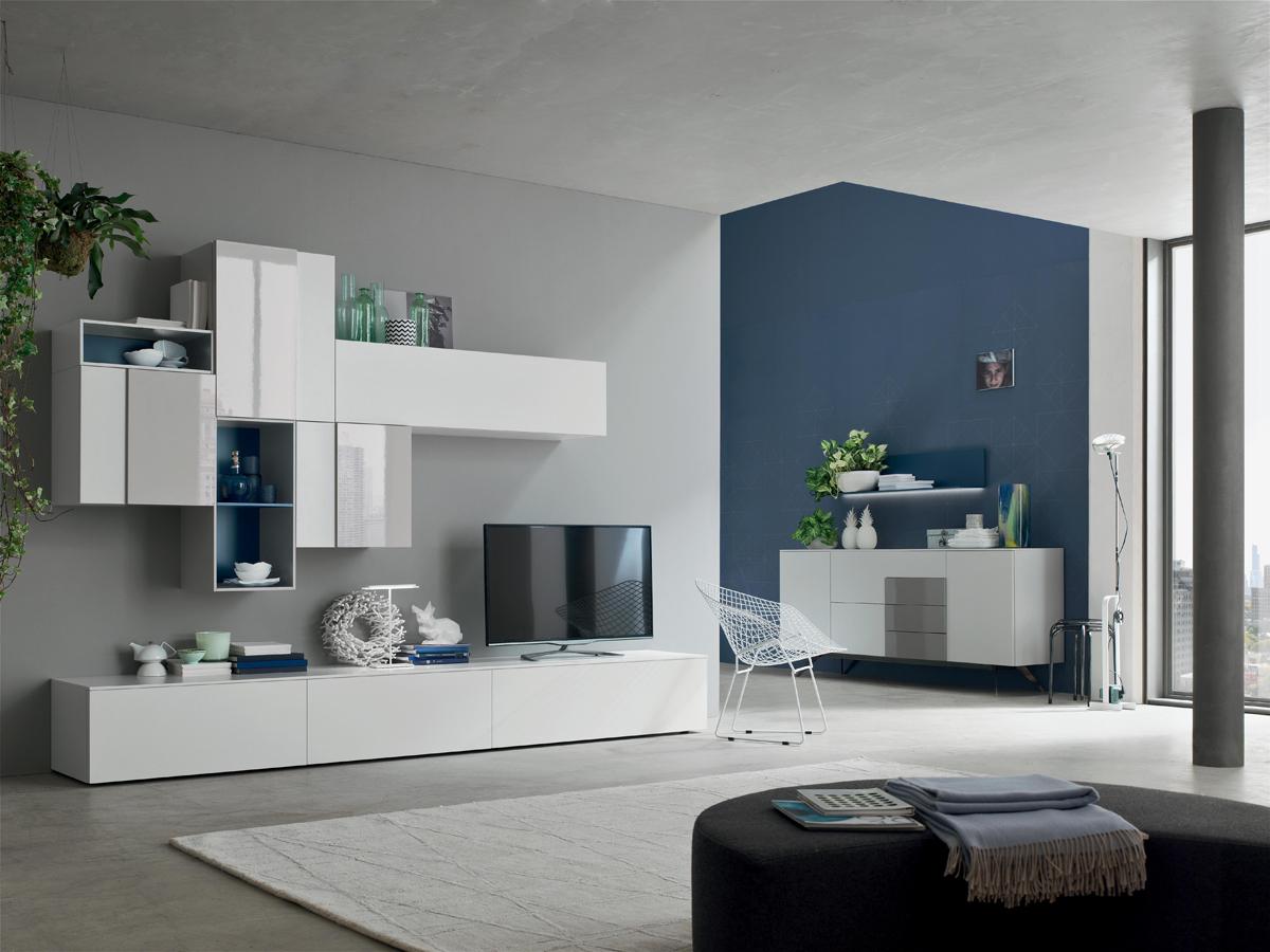 Seta sa1560 mobile soggiorno moderno componibile l 299 4 cm