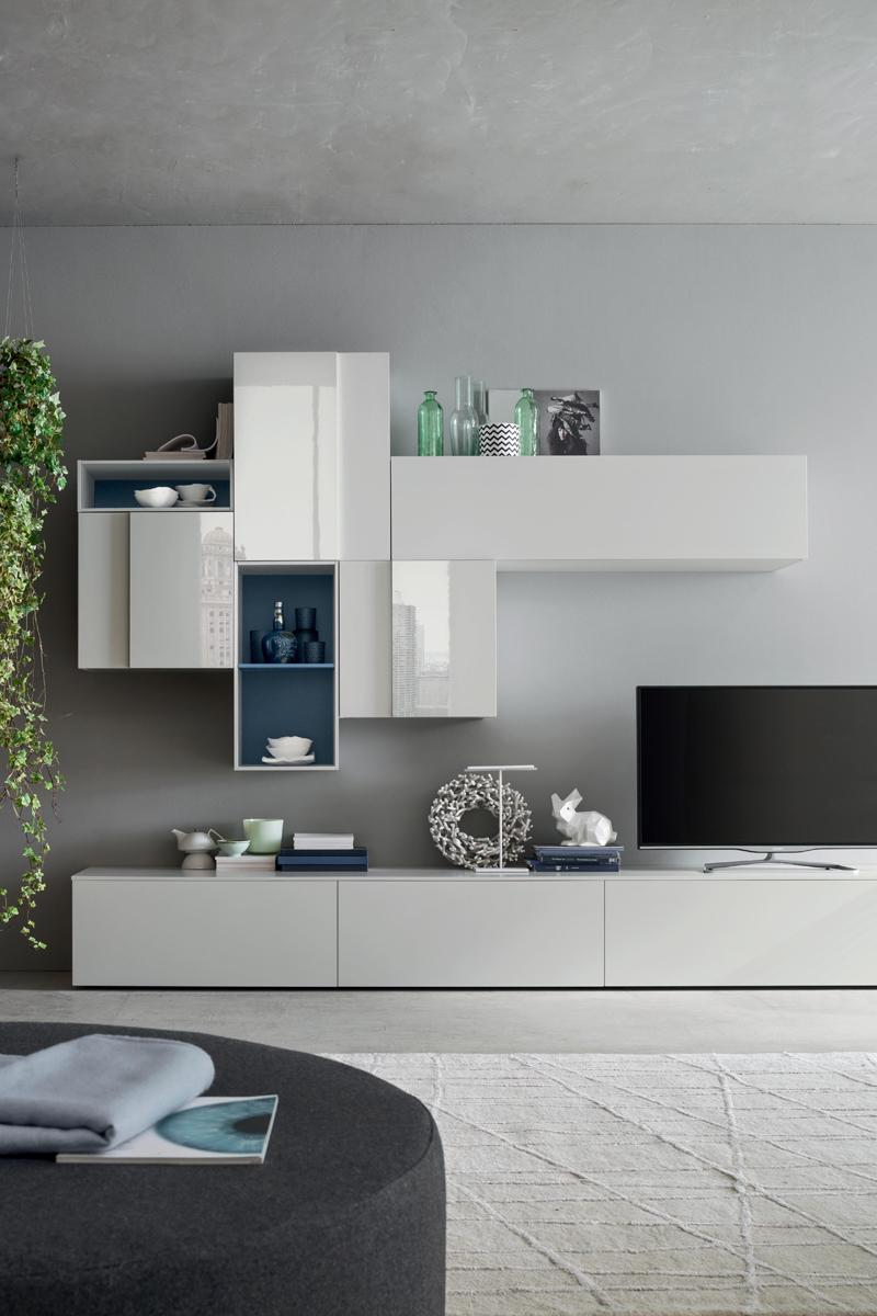 Seta SA1560 - Mobile soggiorno moderno componibile L 299,4 ...
