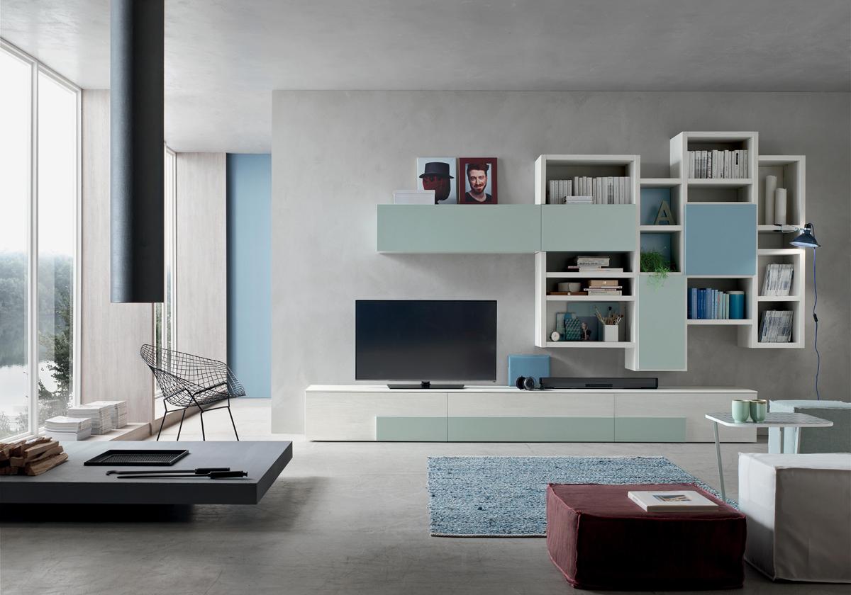 Seta SA1570 – Mobile soggiorno moderno componibile L 373,5 cm ...
