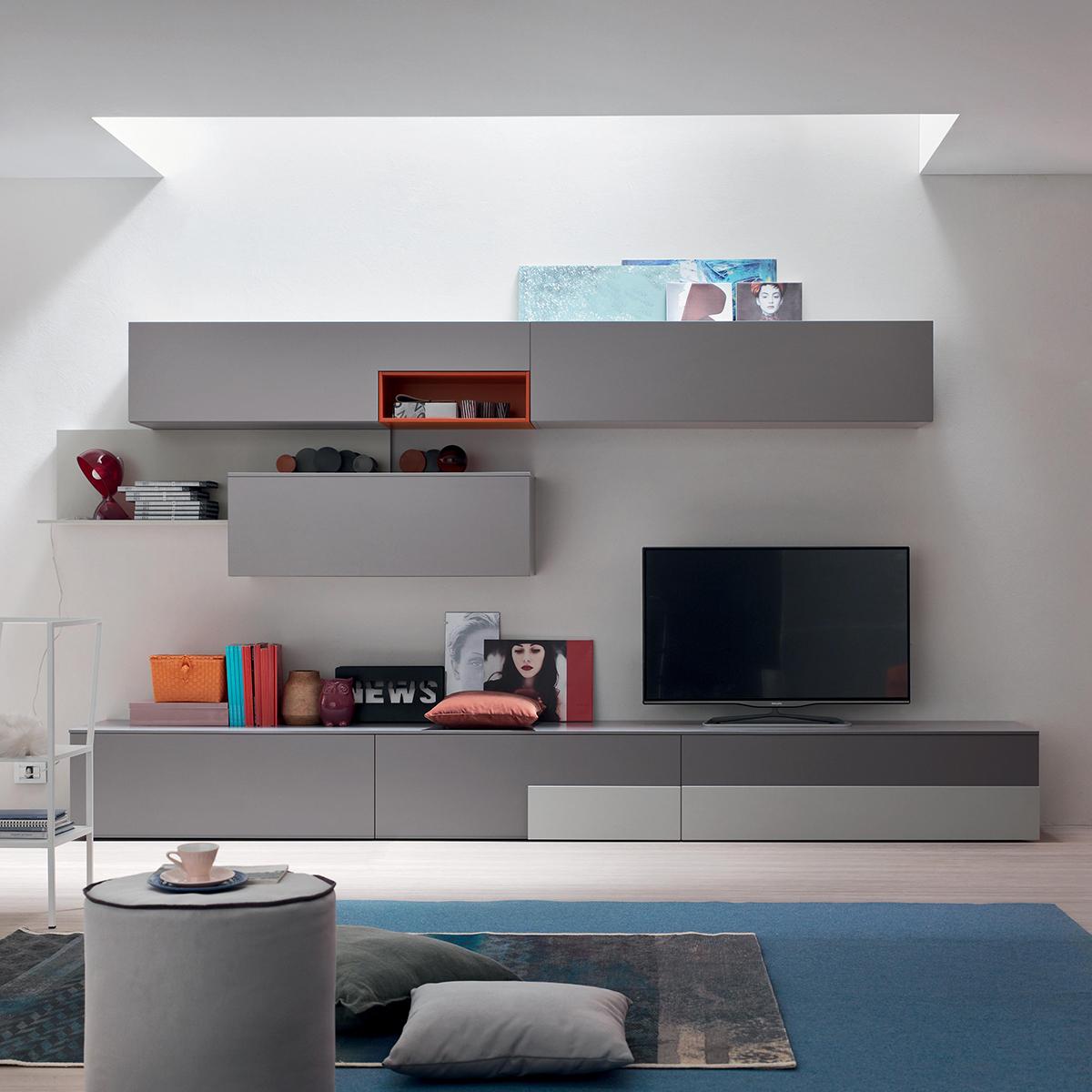 Seta SA1557 - Mobile soggiorno moderno componibile L 352,2 cm ...