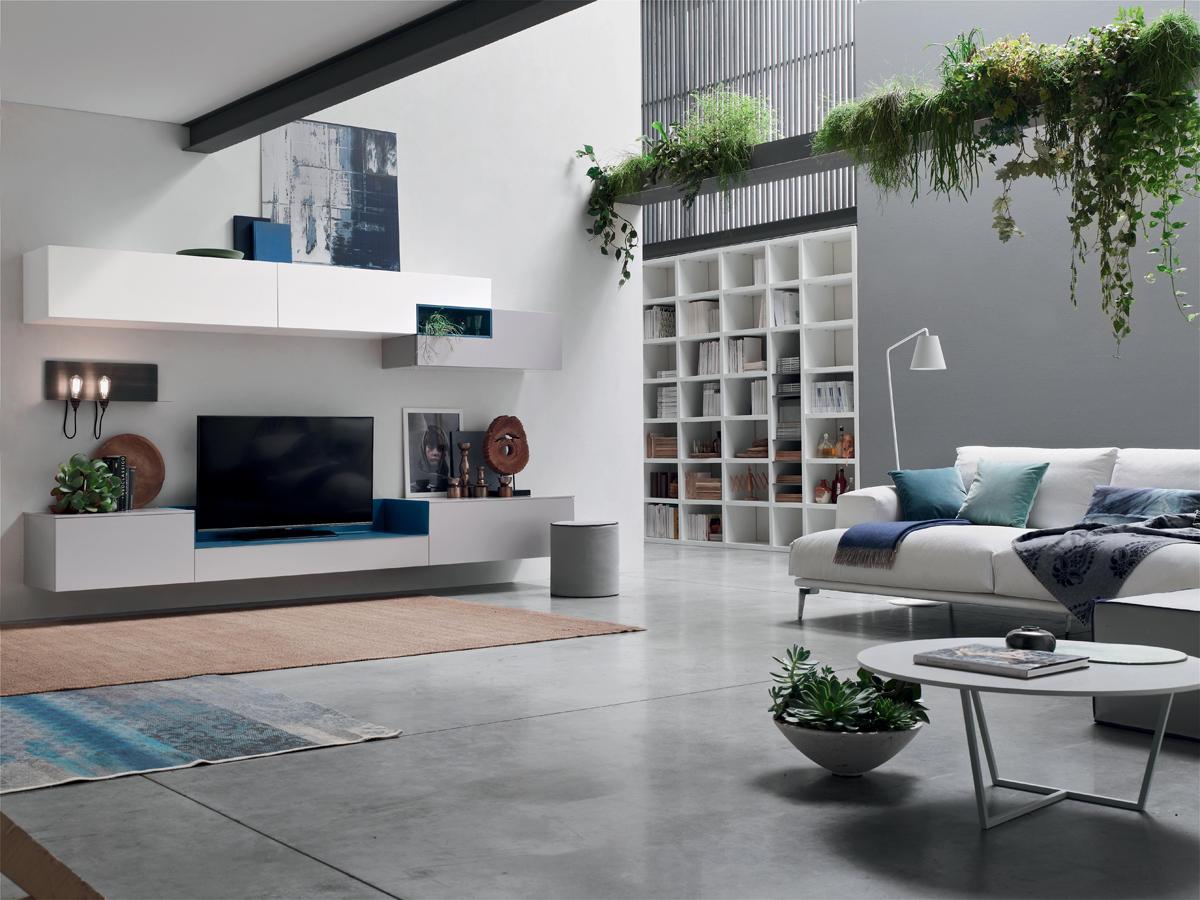 Seta SA1564 - Mobile soggiorno moderno componibile L 317,2 ...