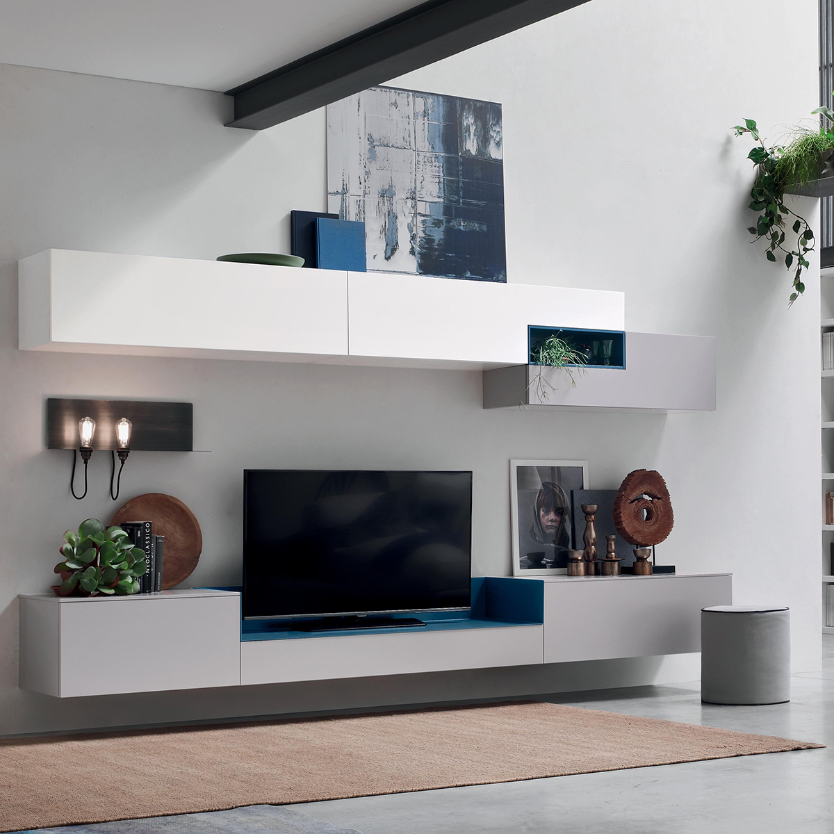 Seta SA1564 - Mobile soggiorno moderno componibile L 317,2 cm ...