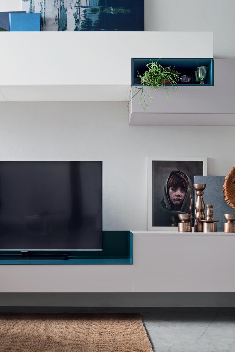 Seta sa1564 mobile soggiorno moderno componibile l 317 2 - Mobile componibile ...