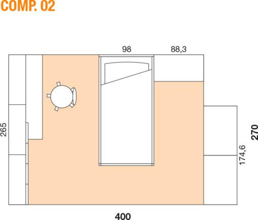 Mya - Cameretta bambino componibile e personalizzabile comp. 02 MAB