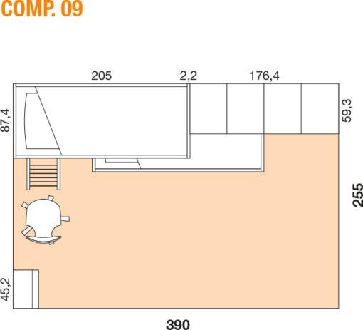 Mya - Cameretta bambino componibile e personalizzabile comp. 09 MAB