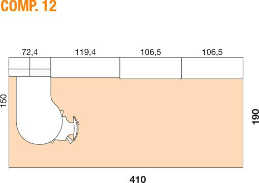 Mya - Cameretta bambino componibile e personalizzabile comp. 12 MAB
