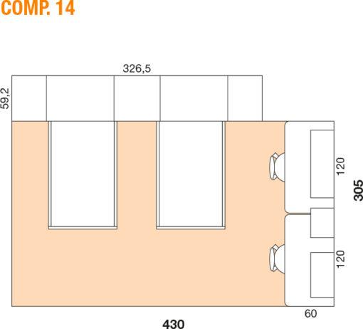 Mya - Cameretta bambino componibile e personalizzabile comp. 14 MAB