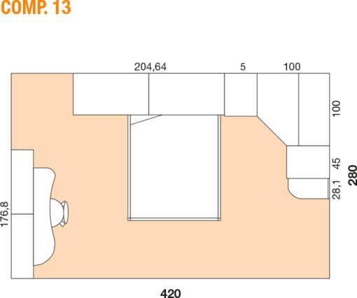 Mya - Cameretta bambino componibile e personalizzabile comp. 13 MAB
