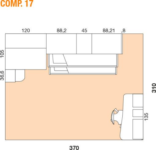 Mya - Cameretta bambino componibile e personalizzabile comp. 17 MAB
