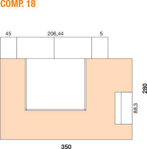 Mya - Cameretta bambino componibile e personalizzabile comp. 18 MAB