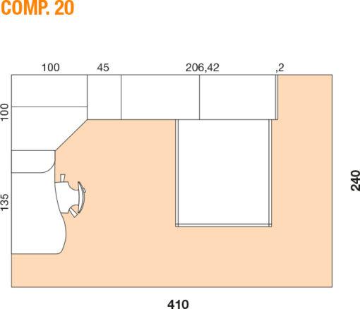 Mya - Cameretta bambino componibile e personalizzabile comp. 20 MAB