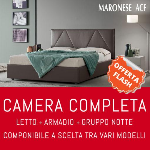 Camera matrimoniale completa - Letto, Armadio, 2 Comodini e 1 Comò MARONESE ACF