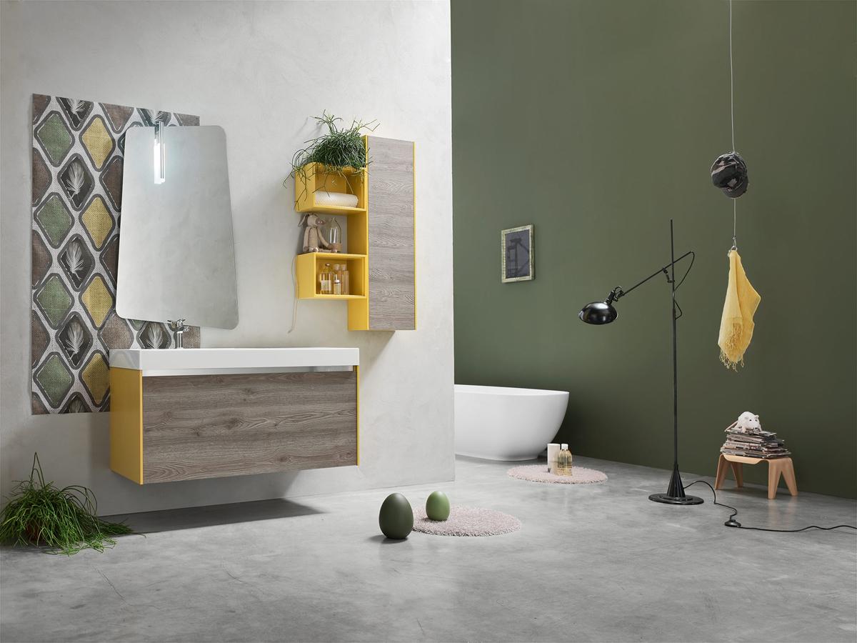 ego 50 - mobile arredo bagno l 120 x p 51 cm personalizzabile ... - Ego Arredo Bagno
