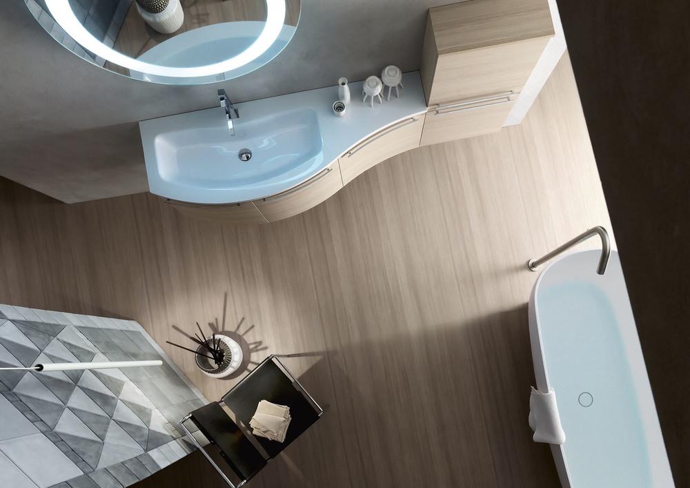 Ely w703 w704 mobile arredo bagno design curvo - Mobile bagno curvo ...