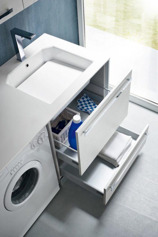L03 - Mobile lavanderia L 262 x P 63/20,8 cm personalizzabile COMPAB