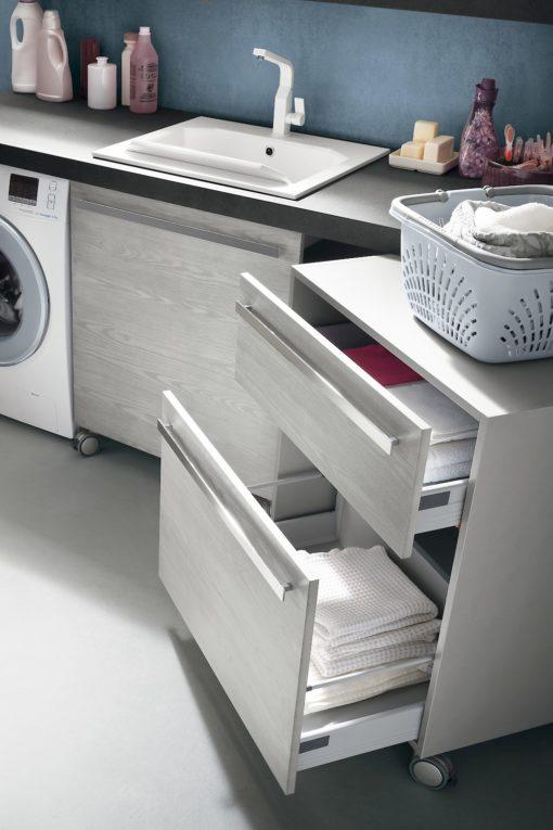 L04 - Mobile lavanderia L 216,5+140+140 x P 63/50/20,8 cm personalizzabile COMPAB