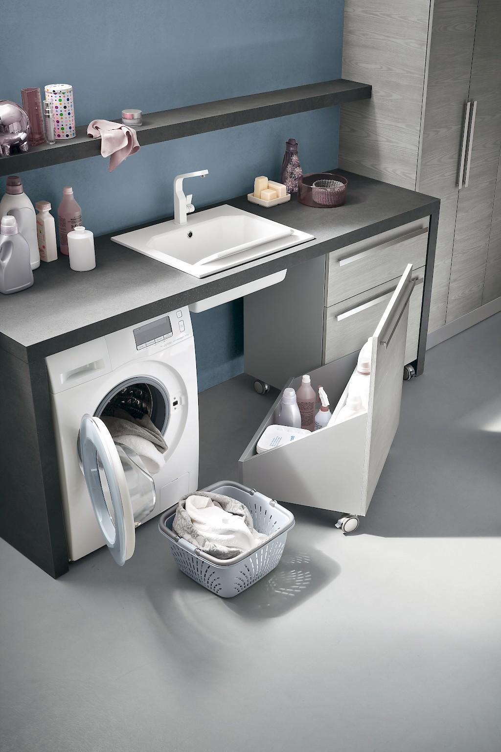 L04 mobile lavanderia l 216 5 140 140 x p 63 50 20 8 cm - Hauswirtschaftsraum mobel ...