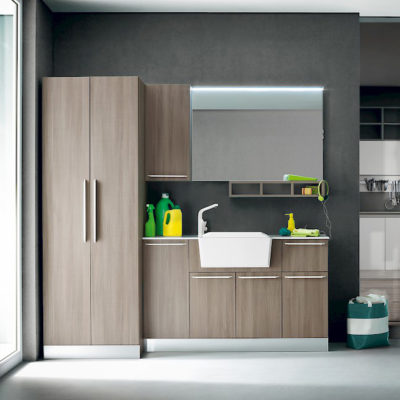 L05 - Mobile lavanderia L 210,5 x P 50/38 cm personalizzabile COMPAB