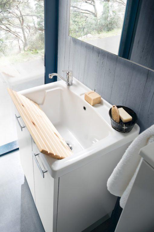 L07 - Mobile lavanderia L 71+50 x P 51/37 cm personalizzabile COMPAB