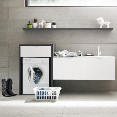 L09 - Mobile lavanderia L 217 x P 63 cm personalizzabile COMPAB