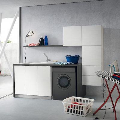 L10 - Mobile lavanderia L 182+50 x P 63 cm personalizzabile COMPAB