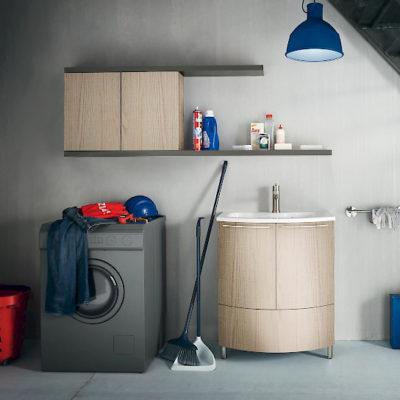 L11 - Mobile lavanderia L 71+170 x P 51/38/20,8 cm personalizzabile COMPAB