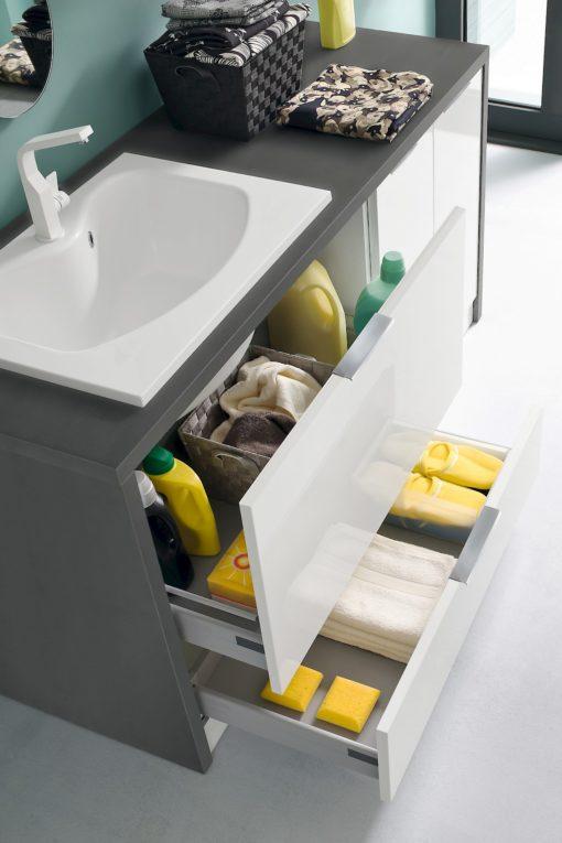 L012 - Mobile lavanderia L 172 x P 63/20,8 cm personalizzabile COMPAB