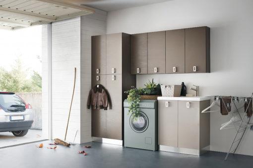 L13 - Mobile lavanderia L 210 x P 51/20,8 cm personalizzabile COMPAB