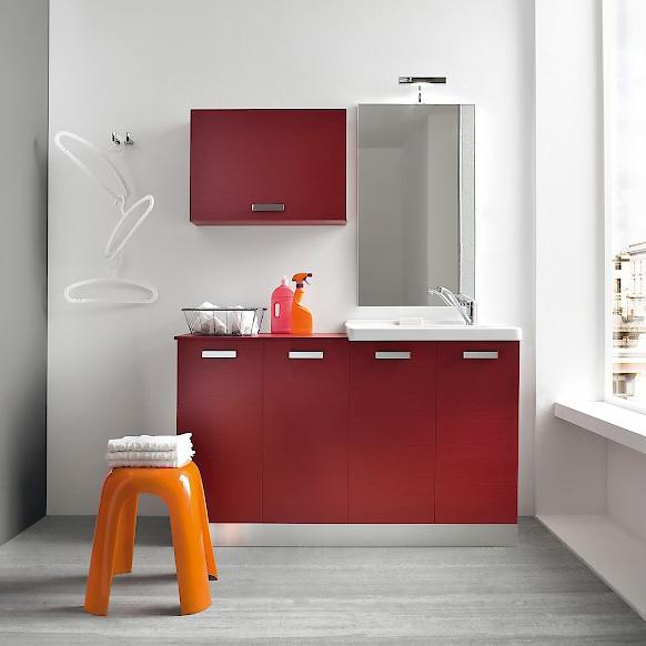 L15 mobile lavanderia l 141 x p 51 cm personalizzabile for Arredo bagno con lavatrice