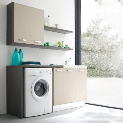 L016 - Mobile lavanderia L 169 x P 51/20,8 cm personalizzabile COMPAB