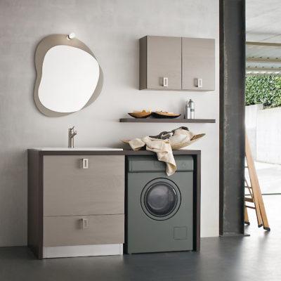 L17 - Mobile lavanderia L 143,5 x P 63/20,8 cm personalizzabile COMPAB