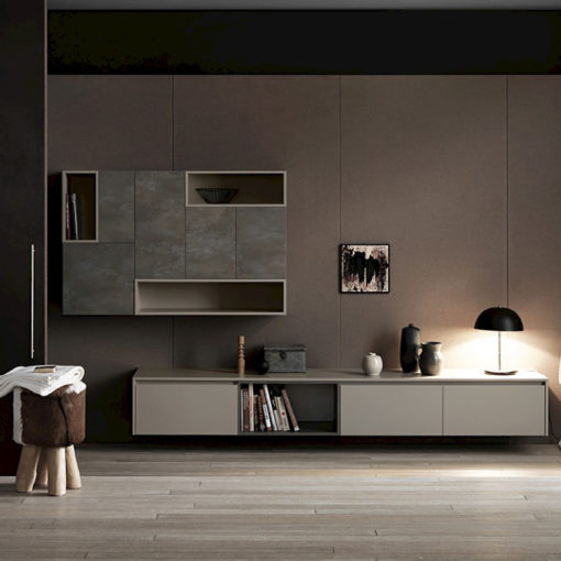 Ink NK02 - Mobile luxury arredo bagno L 334 x P 51/37 cm personalizzabile COMPAB