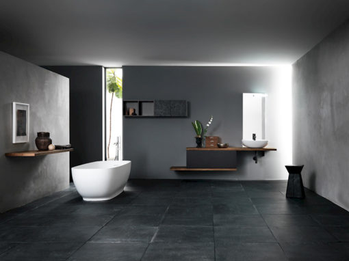 Ink NK03 - Mobile luxury arredo bagno L 140+240 x P 20,8/51 cm personalizzabile COMPAB