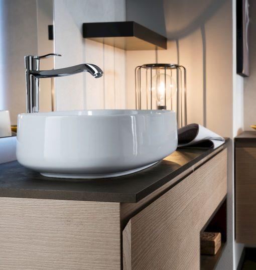 Ink 29A - Mobile luxury arredo bagno L 140,5 x P 51 cm personalizzabile COMPAB