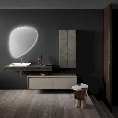 Ink NK01 - Mobile luxury arredo bagno L 212 x P 51/20,8 cm personalizzabile COMPAB