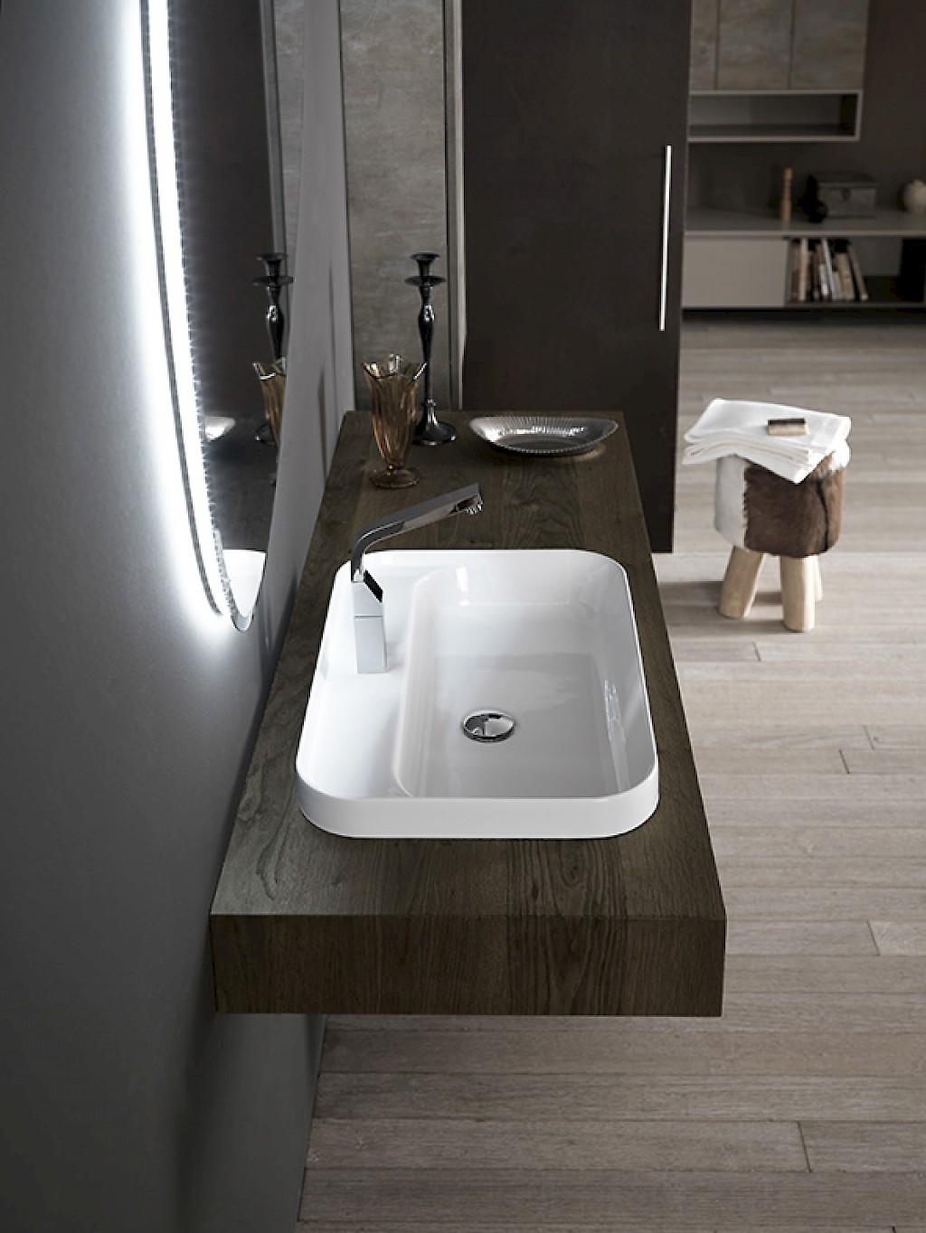 Ink nk01 mobile luxury arredo bagno l 212 x p 51 20 8 cm personalizzabile compab interno77 - Nice arredo bagno ...